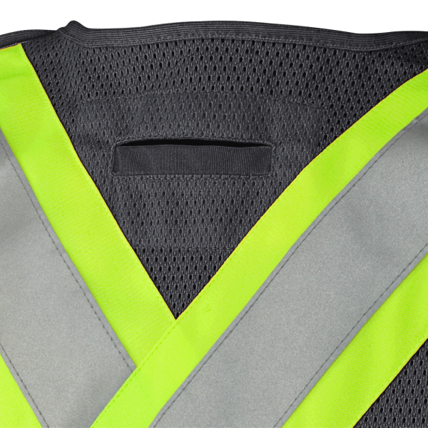TEAR-AWAY MESH BACK ZIP FRONT SAFETY VEST - TRICOT POLY INTLK